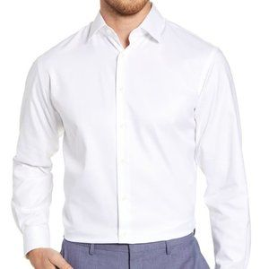 NWT Nordstrom Traditional Fit Non-Iron Dress Shirt